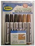 Jobar - Sistema para reparar muebles (12 unidades: 6 rotuladores y 6 unidades de relleno)