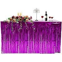 Fiesta hawaiana decoración de mantel con flecos falda de mesa celebración engrosamiento falda de mesa cortinas cortinas suministros de vacaciones