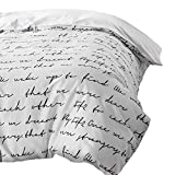 TylAdamdongdong Bettwäsche-Set,Letter Bettbezug Weiß Schwarz Grau Twin Full Queen King Double Single Bedding-Weiß_240 x 220