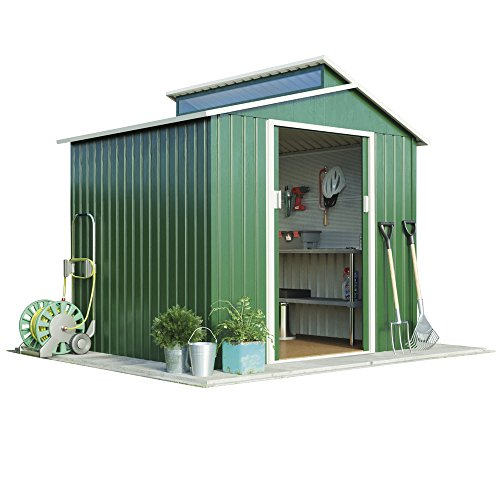7ft-x-4ft-metal-apex-roof-outdoor-garden-storage-shed-with-skylight-by-waltons-dark-green