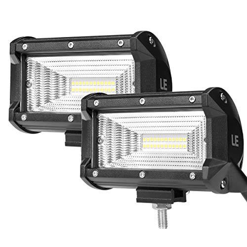 Lighting EVER Projecteur LED 72W, Rampe Barre LED Imperméable, Feux Anti-brouillards, pour Voiture Tracteur Camion SUV Bateau Chantier, Lot de 2