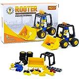 Little Treasures Construction Vehicle Front Loader Tractor Building Bricks Toys Set For Kids 34-Pieces (FRONT LOADER TRACTOR)