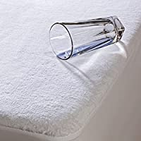 Highliving ® Waterproof Terry Towel Mattress Protector Topper Cover Anti Allergy, Non Noisy 12 Inch Deep