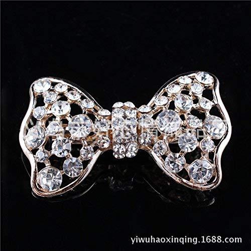 Hardwordland schal Das Moderne Leben Bow Tie einfügen Bohren Brosche Mode Frisch Legen Sie Bohren Crystal Brosche Seiden Clip
