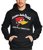 Coole-Fun-T-Shirts Sweatshirt Eddies Auto parts JACK ASS - Hoodie, schwarz/weiß, L, N10619_schwarz/weiss_GR.L
