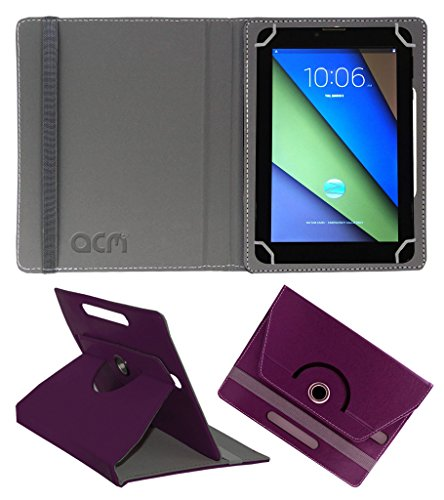 Acm Rotating 360° Leather Flip Case For Zync Z900 Plus Tablet Cover Stand Purple  available at amazon for Rs.149