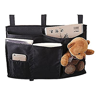 Bedside Caddy,Dorm Room Bedside Storage Mattress Book TV Remote iPad iPhone Mobile Magazine Caddy Organizer Sofa Bed Pockets Tidy Hanging Storage Unit Bag Organiser Pockets for Cabin Beds - cheap UK light store.
