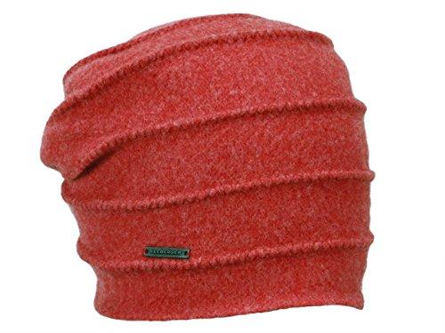 Seeberger Walkmütze mit Biesen 016177-00000-38 lobster
