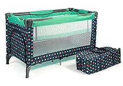 CHIC 4 BABY 340 21 Reisebett Luxus mit Einhängeboden für Neugeborene und Tragetasche, menta