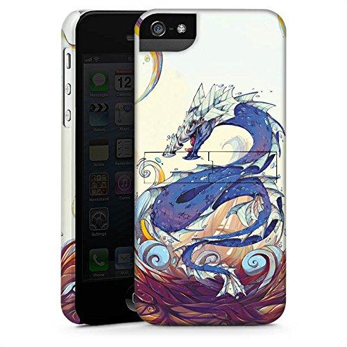 Apple iPhone X Silikon Hülle Case Schutzhülle Drache Wasser Fantasie Premium Case StandUp