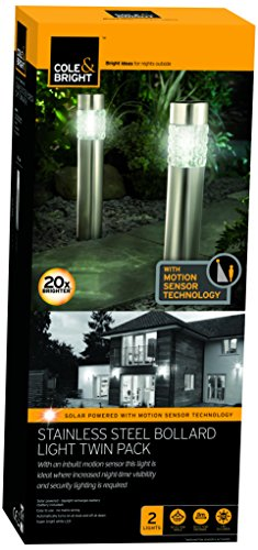 cole-bright-18228-stainless-steel-motion-sensor-bollard-light-clear-pack-of-2