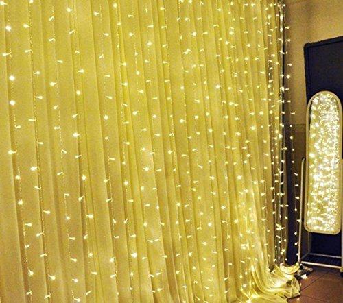 Lightess Tenda Luminosa di Natale 600LED 6*3 Metri Luce per