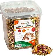 petifool Wilde bloemenweide 600 g - aanvullend voer voor knaagdieren - voor konijnen, cavia's, hamsters, c