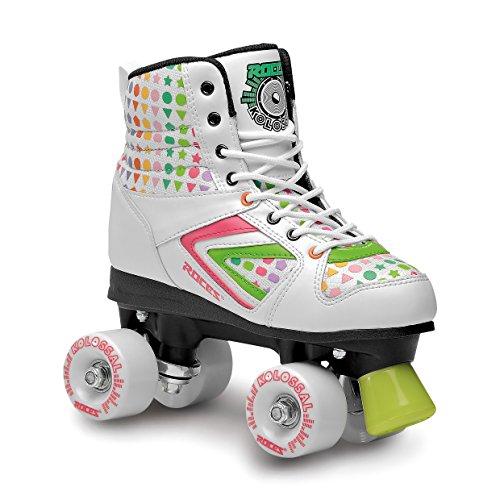 Roces Kinder Rollerskates Rollschuhe Street Kolossal, Weiß/Grün, 40, 550041-006 (Schuh Weiß Skate Grün)