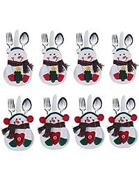 Juego de cubiertos de cocina 8 PCS Cubiertos Cubiertos Cuchillos Tenedores Bolsos en forma de muñeco