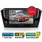 Autoradio Android AWS-9500 für VW Passat B8 inkl. Can-Bus | GPS Navigation (aktuelle Europa-Karten) | DAB+ | USB l Octa-Core | 4K Ultra HD Video | WLAN | Bluetooth (iOS u. Android) | MirrorLink | RDS