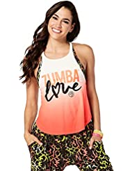 Zumba Fitness Love - camiseta de tirantes para mujer, Amor, Mujer, color Coral Craze, tamaño L