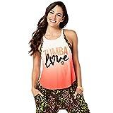 Zumba Fitness Damen Zumba Love Open Back Tank Frauentops, Coral Craze, M