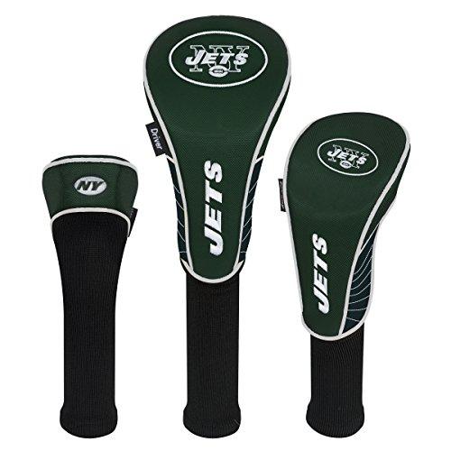 Team Aufwand NFL New York Jets Set von drei Schlägerkopfhüllen