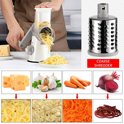 51Vlt3FZ3iL. SS500  - Ourokhome Vegetable Chopper Slicer Dicer - 12-in-1 Fruits Cutter Mandoline Slicer Food Chopper/Cutter with 7 Stainless Steel Blades, Adjustable Slicer & Dicer with Storage Container