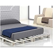 (180 Beige/Arena) SEDELLA* COLCHA MULTIUSOS FOULARD PLAID LISO para cama o sofá CALIDAD SUPERIOR GARANTIZADA FABRICADO EN ESPAÑA (180_x_260_cm, BEIGE/ARENA)