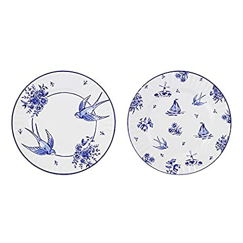 Talking Tables Willow Pattern Vintage Style Large Paper Plates for