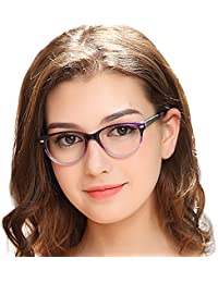 6e01959a73 OCCI CHIARI Gafas ópticas con marco para mujer Gafas con estilo Sin gafas  graduadas sin receta