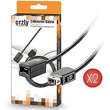 Orzly Câble d'extension pour Nintendo NES Classic Mini Manette - 2*Câbles (TWIN PACK) EXTRA LONG 1.8M – Compatible NES Mini Version 2016