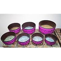 Sabirian Klangschale aus Aluminium, handgefertigt, 25,4 x 25,4 cm, Pink preisvergleich bei billige-tabletten.eu