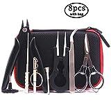 DIY-Werkzeug-Kit mit neuester Spule-Jig-wickelset, Keramik-Pinzette, Spulen-Set, Drahtschneider, Klapp Schere, Spulen Bürste, Schraubenzieher, 1,5 mm bis 3,5 mm für Spulen Jig/ Set Als Geschenk