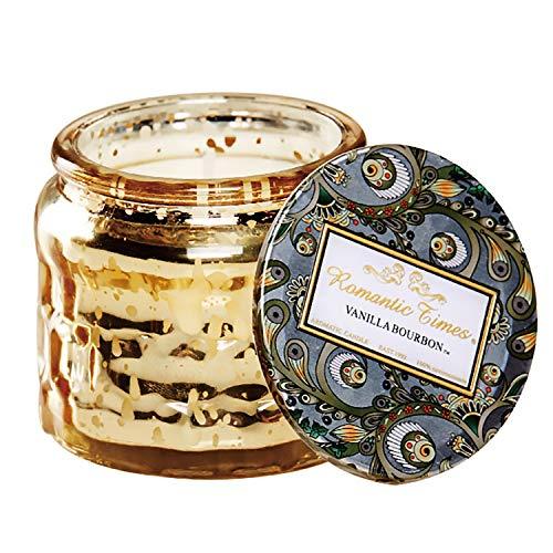 Spa-glas Kerze (basidy West Aromatherapie Kerzen Stress Relief 1Pack mit natürlichen ätherischen Ölen von Lavendel Eukalyptus grüne Minze und Rosmarin Glas Spa-Qualität Geschenk,Lemon)