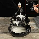 Räucherstäbchenhalter Mohoo Keramik Räucherschale Halter Aromatherapie Rückfluss Räuchergefäß für Meditation Yoga, Chakra-Heilung und geeignet für Haus/ Büro/ Schlafzimmer/ Toilette