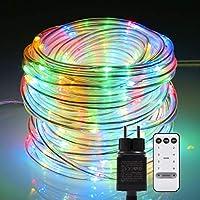 B-right Manguera de Luces Exterior Colores, 22m 200 LED Multicolor,8 Modos Luces, IP65 Impermeable, Cadena de Luces Cuerda Exterior Decoración para Jardín, Terraza, Patio, Árbol de Navidad,Fiesta,etc