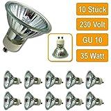 10 Stück Halogenlampe 230Volt GU10 35Watt