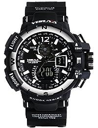 fasiou Armée Militaire Hommes de Sport étanche montre chronographe montres yisuya Analogique LED Montre numérique