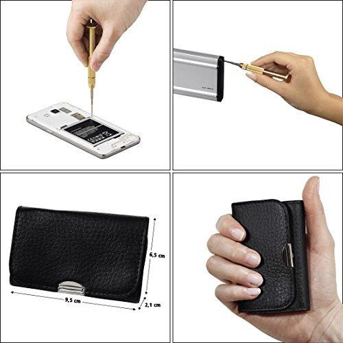 Hama Feinmechaniker Mini Schraubendreher-Set für Uhr, Brille, Modellbau, Handy, PC, Laptop (Magnetisierbar, Torque, Schlitz, Kreuzschlitz) Werkzeug-Set 13-teilig - 9