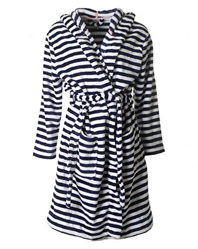 - 51Vlxirys2L - Joules Womens/Ladies Rita Warm Cozy Hooded Fleece Dressing Gown