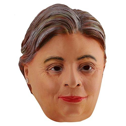 Clinton Kostüm Halloween (Gazechimp Halloween Gummi Maske Clinton Senator Politiker Candidate Face)