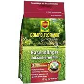 COMPO UV RASEN FLORANID®, Unkrautvernichter/ Rasendünger 12kg