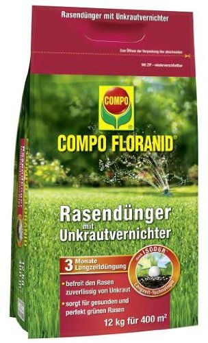COMPO UV RASEN FLORANIDu00ae, Unkrautvernichter/ Rasendünger 12kg