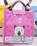 Aide à domicile Paquet d'isolation de bande dessinée repas portable sac à main poignée sac (rose)...