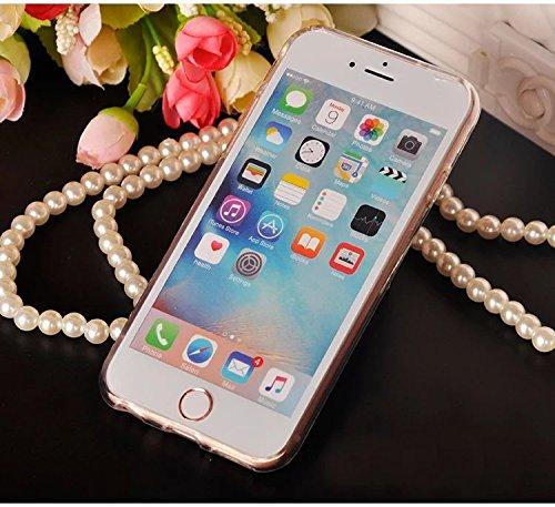 iPhone 6s Hülle, iPhone 6 Hülle, Vandot Transparent Liquid Glitzer Diamant Leuchtend Schutzhülle für iPhone 6s 6 Handyhülle TPU Silikon Weich Flüssigkeit Zurück Caase Cover Glitter Luminous Dynamisch  Sanduhr Blau