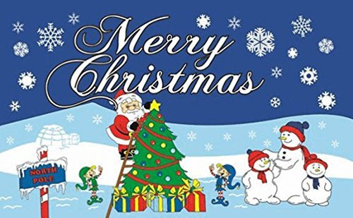 UB Fahne / Flagge Merry Christmas North Pole Weihnachtsfahne 90 cm x 150 cm Neuware!!!