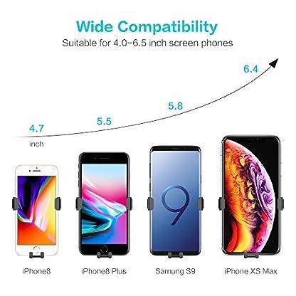 FLOVEME-Handyhalter-Frs-Auto-KFZ-Schwerkraft-Lftungsschlitz-Handyhalterung-Fr-iPhone-XS-MAXXSXRX876P-Samsung-S9S8S7-Huawei-usw