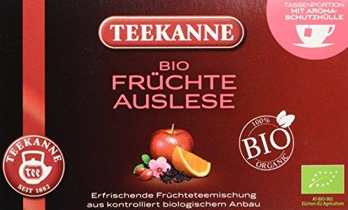 Teekanne BIO-Früchtetee 20 Beutel, 2er Pack (2 x 60 g Packung)