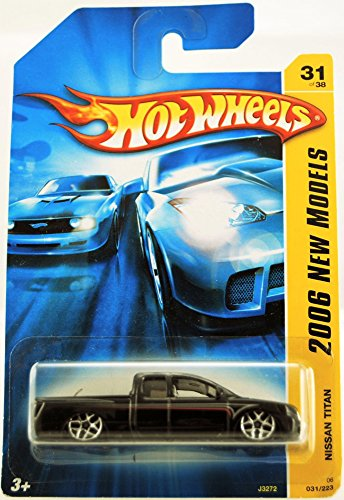 mattel-hot-wheels-2006-new-models-series-164-scale-die-cast-metal-car-31-of-38-black-pick-up-truck-n