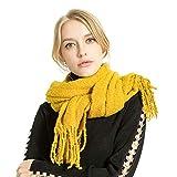 TianWlio Frauen Schals Frauen Neue Winter Cashmere Blend Pashmina Solide Quaste Schal Wrap Schals