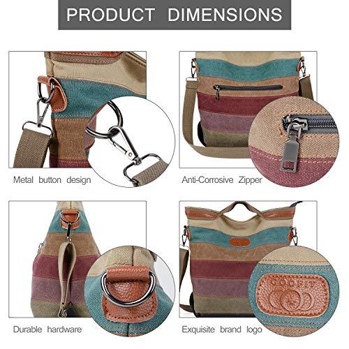 2014 Fashion Damen Mädchen Handtasche Umhängetasche Schultasche Alltagstasche Universal Leinwand Multifunktion mit Schulterträger - 4