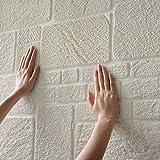 3D Stereoscopico Modello di mattoni Muro di mattoni Isolamento XPE Schiuma Self-sticking Collisione La stanza dei bambini Adesivo da parete Impermeabile Decorazione sfondo muraria 10pcs,A