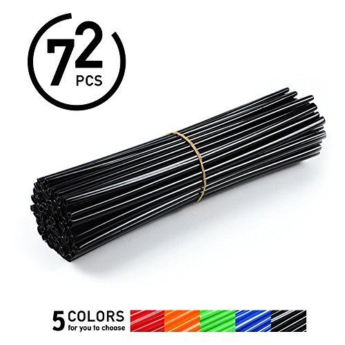 Preisvergleich Produktbild VGEBY QC00793-02 Rad Speichenhülle Speichensticks für Fahrrad Motorrad 72 Fache ( Farbe : Schwarz )